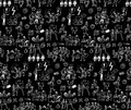 Office Life Black And White Seamless Pattern Business People. Royalty Free Stock Photos - 63386428