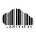 Vector Cloud Of Barcode Stock Photography - 63398822