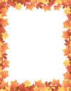 Autumn Leaves [maple] Border Stock Photography - 6342982