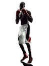 Man Boxers Boxing Isolated Silhouette Royalty Free Stock Images - 63400789