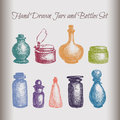 Vintage Jars And Bottles Royalty Free Stock Photography - 63406127