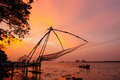 Chinese Fishing Nets In Fort Kochi Royalty Free Stock Photos - 63410788