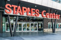 Staples Center Arena Entrace Royalty Free Stock Image - 63428126