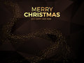 Christmas Background With Gold Magic Star. Vector Illustration Stock Photo - 63457100