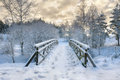 Snowy Little Bridge 2 Royalty Free Stock Photo - 63466845