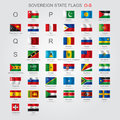 Set Of Sovereign State Flags O-S Stock Image - 63486121