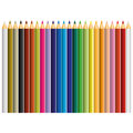 24 Color Pencil Vector Royalty Free Stock Image - 63487966