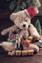 Vintage Christmas  Toys For Boys On Wooden Background Stock Image - 63493091