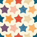 Abstract Seamless Pattern With Grunged Colorful Stars Royalty Free Stock Photography - 63503277