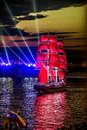 Celebration Scarlet Sails Show During The White Nights Festival, Royalty Free Stock Photos - 63507338