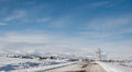 Winter  Snow-covered Road In The Georgian Mountains Royalty Free Stock Images - 63507889