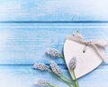 Decorative Heart And Tender Flowers Muscaries Stock Photography - 63508412