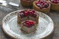Pork Pie With Cranberry Topping Stock Photo - 63514540