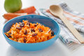 Carrot Salad With Raisins And Apple Stock Photography - 63536952