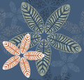 Stylish Tropical Leaves Pattern Royalty Free Stock Image - 63538876
