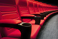 Empty Rows Of Red Theater Royalty Free Stock Photography - 63550667