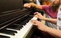 Close Up Of Woman Hands Playing Piano Royalty Free Stock Photography - 63554007