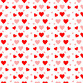 Red And Pink Hearts In Seamless Pattern On White Stock Photo - 63554510