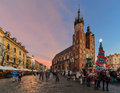 Market Square Of The Old City In Krakow Decorated By The Christm Royalty Free Stock Photos - 63558258
