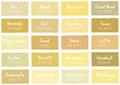 Tan Tone Color Shade Background With Code And Name Royalty Free Stock Photography - 63598957