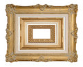 Three Stacked Antique Frames Stock Images - 6364504