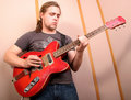 Guitarist In Studio Royalty Free Stock Photography - 6365807