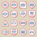 Set Of Discount Sale Free Labels, Banner And Badges Vector Set Stock Images - 63603844