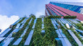 Bangkok, Thailand - 22 November 2015 : Vertical Garden Of Wyne Sukhumvit (the High-end Condominium) At The Sukhumvit Mid-town Stock Photos - 63623343