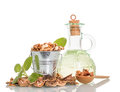 Walnuts Oil And Nuts Royalty Free Stock Photo - 63686285