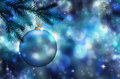 Blue Christmas Ornament Royalty Free Stock Image - 63689306