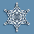 Paper Lace Doily, Lacy Snowflake Ornament Royalty Free Stock Photography - 63697027