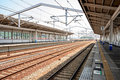Bullet Train Station Tracks And Loading Stock Photos - 63699683