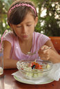 Young Girl Eating Salad Stock Image - 6377121