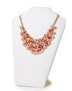 Beautiful Pink Necklace On A Mannequin Royalty Free Stock Photography - 63700317