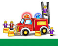 Fire Engine Firefighters Toy. Illustration Royalty Free Stock Image - 63703346