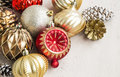 Christmas Globes And Cones Stock Images - 63724414