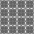 Vector Seamless Pattern With National Russian Lace Black And White. Stock Image - 63727271