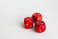 1,2,3 Numbers On  Dices On White Royalty Free Stock Photography - 63753967