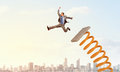 He Did Great Career Jump Royalty Free Stock Photo - 63783795