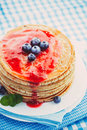Pancakes With Jam Royalty Free Stock Photos - 63791028