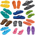 Slipper Set Colorful Stock Photos - 63791743