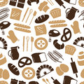 Simple Bakery Items Icons Seamless Color Pattern Eps10 Royalty Free Stock Photo - 63792565