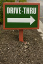 Small Drive-thru Sign Stock Photography - 6383082