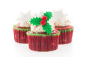 Christmas Cupcakes Stock Images - 63809204