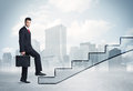 Business Person In Front Of A Staircase Stock Images - 63811304