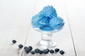 Blue Ice Cream In Cup Royalty Free Stock Photo - 63825555