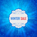Winter Sale Poster Design Template Or Background. Creative Business Promotional Vector. Royalty Free Stock Images - 63825709