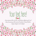 Decorative Floral Background. Birthday Card. Hand Drawn Watercolor Frame. Spring Time. Royalty Free Stock Photos - 63828958