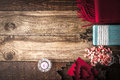 Christmas Preparation Set  On The Wooden Table Stock Photo - 63830440