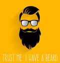 Hipster. Trust Me I Have A Beard. Stock Images - 63863734